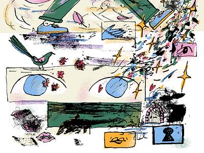 Daydreamer pt.1 sketchbook art character drawing texture illustration