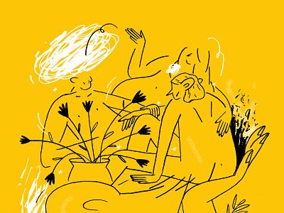 Ponder nude plants drawing texture pencil illustration