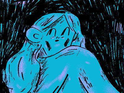 Shade night shadow character pencil texture drawing illustration