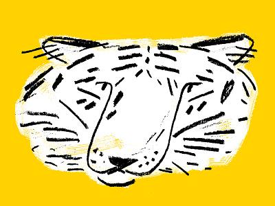 Tiger animal animal illustration tiger yellow black white black pencil texture drawing illustration