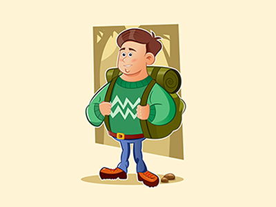 Camping adventure adventure camping character design illustration