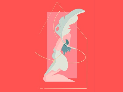 sexy animation gif motion design character 2d illustration