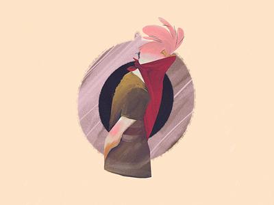 Bestias character 2d illustration