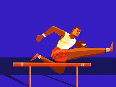 Runner motion design character animation 2d illustration