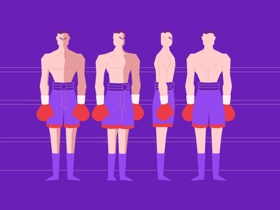 boxer vector character design animation 2d illustration