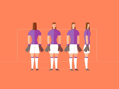 Soccer vector design character 2d illustration