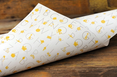 Alphabet Gift Wrap gift wrap wrapping paper illustration child baby alphabet