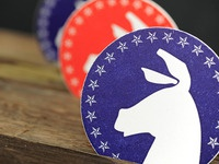 Democratic Letterpress Coasters