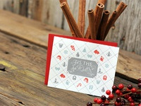 Letterpress Holiday Greeting Card