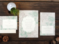 Paisley & Lace Wedding Invitations