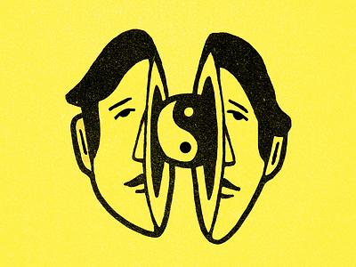 Balance concept art character yin yang design illustration