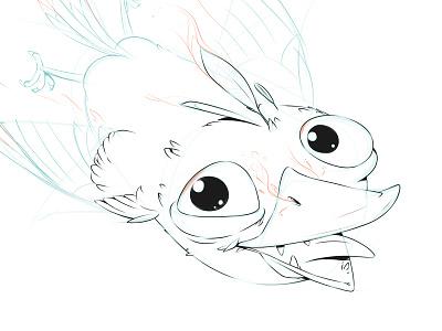 Fenix smile flying eyeas creature design creaturedesign creature funny bird concept art artwork gamedev drawing concept game design illustration character design characterdesign characters character phoenix