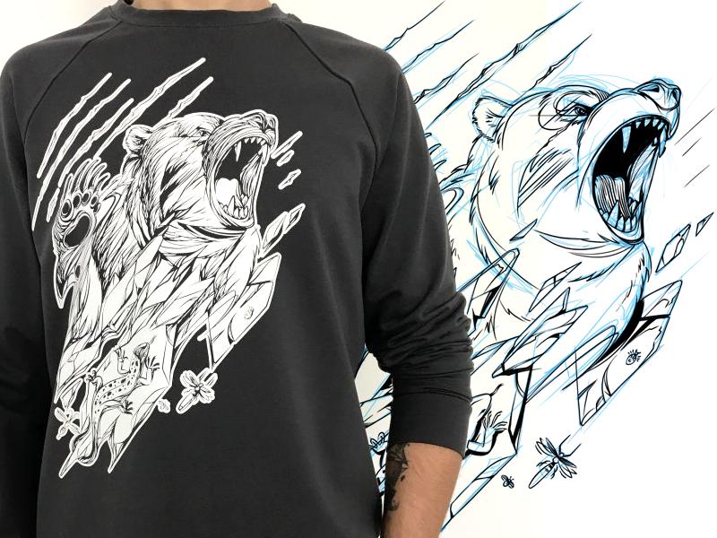 Bear black sketch bear game design character design character illustration drawing artwork fashion
