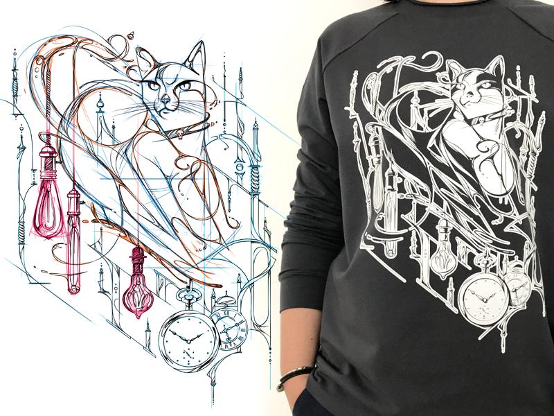 Cat black sketch cat game design character design character illustration drawing artwork fashion