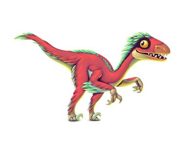 Dinoboom I Deinonychus deinonychus illustration ui gamedev game design dinosaur concept art concept character design character