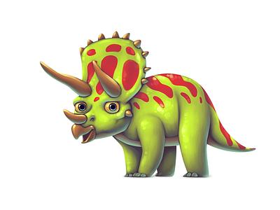 Dinoboom II Triceratops triceratops illustration ui gamedev game design dinosaur concept art concept character design character