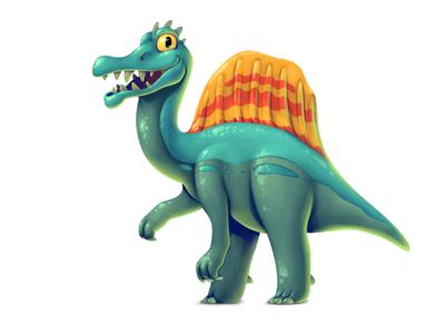 Dinoboom III Spinosaurus spinosaurus illustration ui gamedev game design dinosaur concept art concept character design character