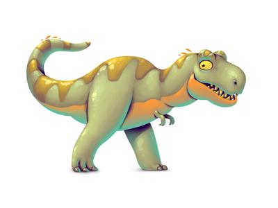 Dinoboom V T-rex illustration ui gamedev game design dinosaur concept art concept character design character t-rex