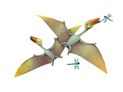 Dinoboom XIII Pterodactyl illustration ui gamedev game design dinosaur concept art concept character design character
