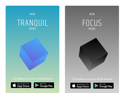 Geotap Lurce Promo Cards shapes app 3d low poly gradients mobile game