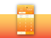 Daily UI #004 Calculator - Bitcoin app