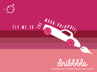 2 Dribbble Invitations Giveaway