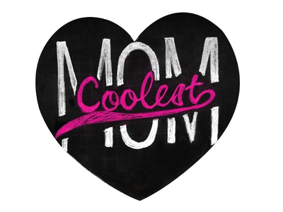Mother's Day Magnet - Coolest Mom typograpgy magnet mothers day