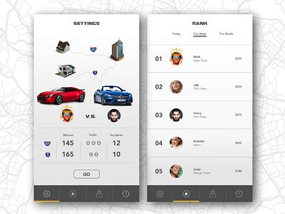 Daily UI #019: Leaderboard app driving rank car race leaderboard daily ui