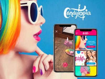 Candytopia AR App UX/UI ux app augmentedreality