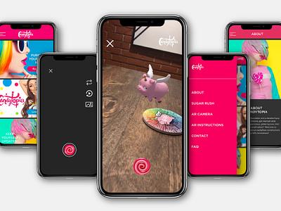 Candytopia App UX UI Design ux  ui ux app candytopia