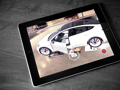 Tesla AR App Design tesla ux  ui design app augmented reality