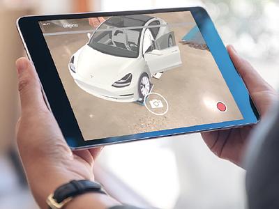 Tesla AR App Design car tesla augmented reality app ux ux  ui