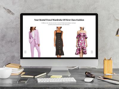 Trvl Porter Web Design fashion webdesign design ux  ui