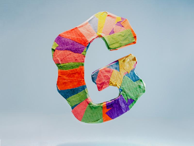 G letterdesign 3d papermache nottheonlylonely