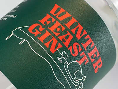 Winter Feast Gin illustraion packaging collaboration gin