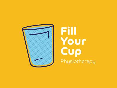 Fill Your Cup vibrant framesbyams logo design branding