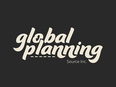 Global Planning logo flow intertwined logo design branding framesbyams