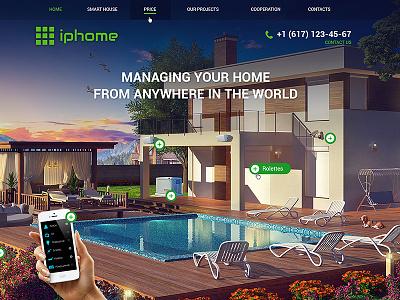 Smart house site design 3d interface ux ui web-design web site