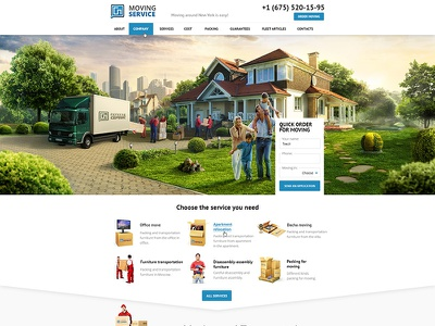 Moving service interface ux ui web-design web site