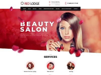 Beauty saloon web-design salon beauty beauty saloon