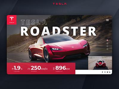 Tesla Roadster website webux webdesign web photoshop teslaroadster tesla web-design