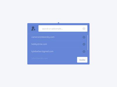 Invite ui ux interface interview video email popover modal kira wip landing