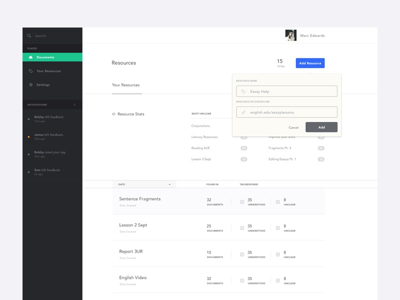 Resources  ui ux resources minimal flat white