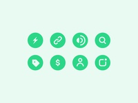 Drop Icon Set ⚡️ ux ui mobile app solid stroke icons icon set icon
