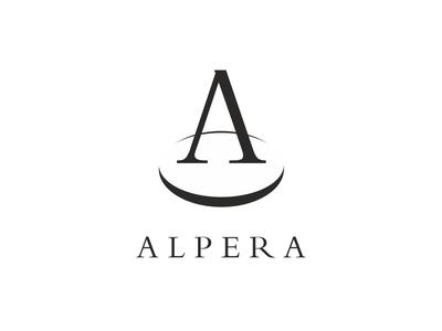 Alpera abstract perspective symbol logo decorative trophy medal metal