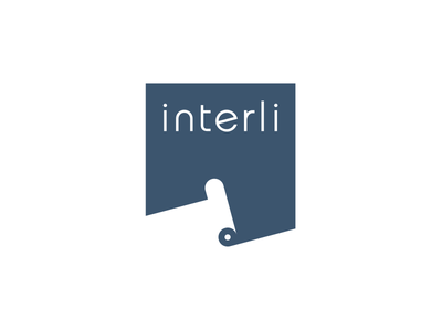 Interli logo negative positive gestalt roll roof