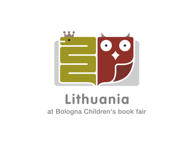 Lithuania at Bologna Children's book fair symbol logo fairy tale page owl snake children fair book lithuania