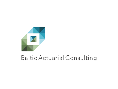 Baltic Actuarial Consulting crystal perspective cube symbol logo services consulting baltic actuary actuarial