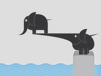 Elephant in a pool