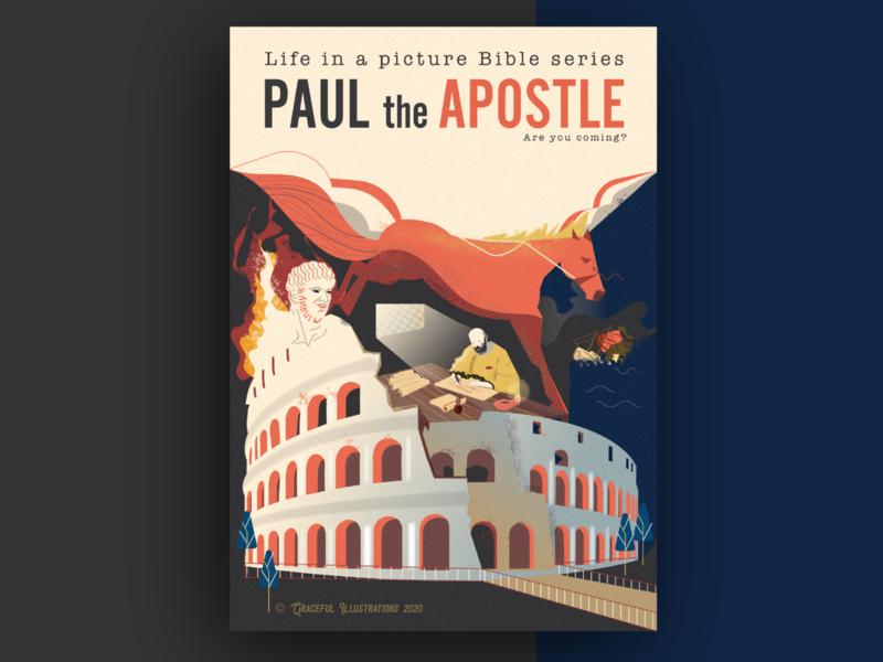 Paul THE APOSTLE colosseum horse rome empire nero typography illustrator psd apostle love italy paul god texture jesus christ magazine life bible illustration